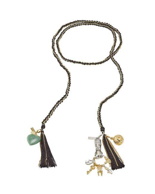 Missoni | Multicolor Woven Chain Tassel Bracelet | Lyst