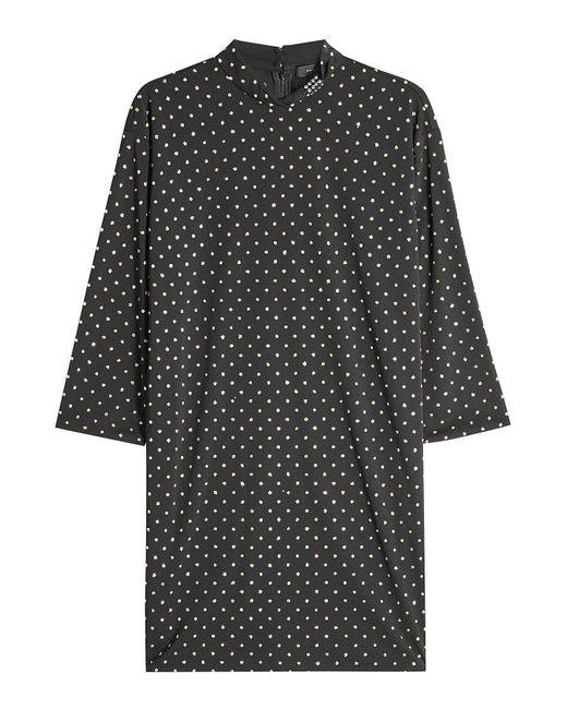 Marc Jacobs - Black Mock Neck Glitter Dress - Lyst
