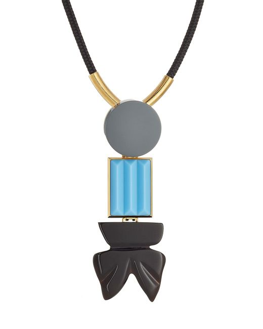 Marni - Multicolor Necklace With Embellishments - Lyst