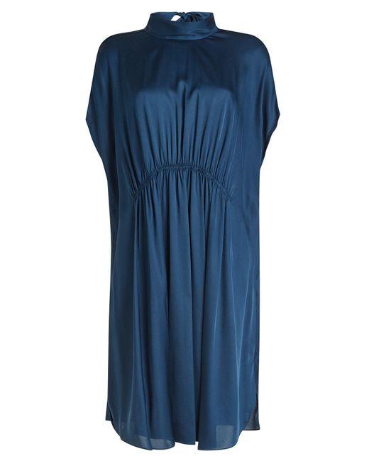 By Malene Birger - Blue Roik Silk Dress - Lyst