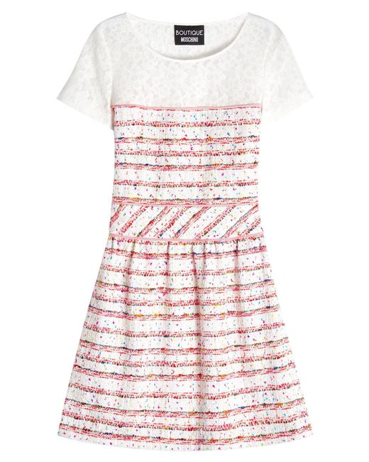 Boutique Moschino | Multicolor Dress With Bouclé Skirt | Lyst