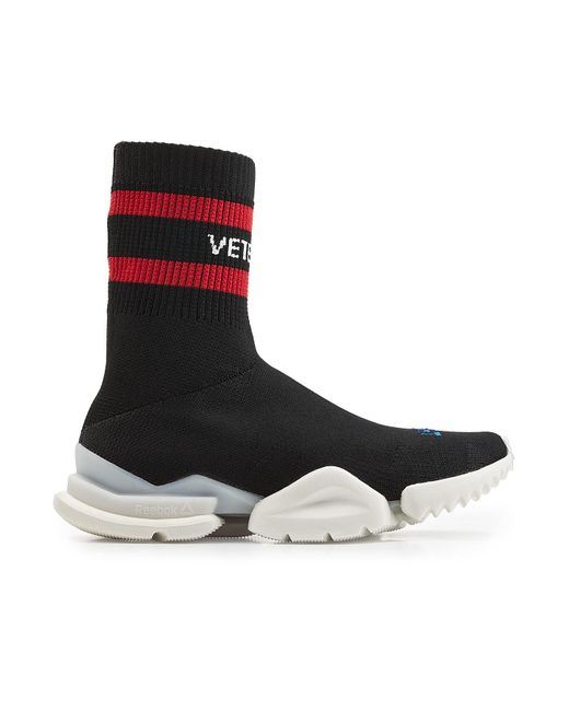 Lyst Vetements X Reebok Sock Sneakers In Black