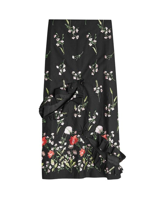 Marques'Almeida - Black Embroidered Slip Skirt With Cut-out Front - Lyst