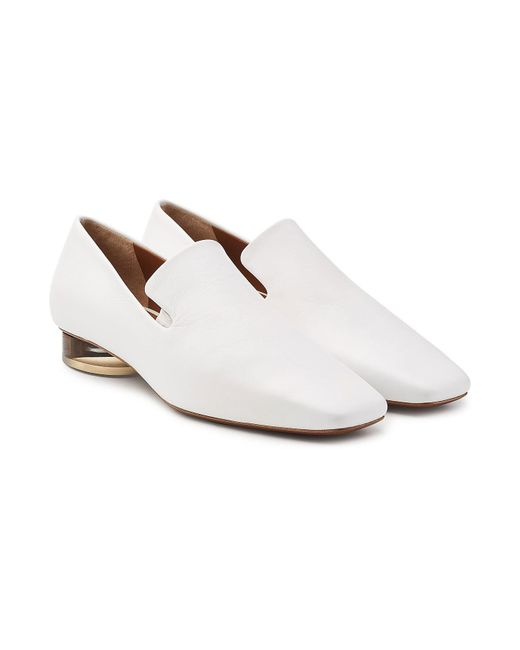 Neous - White Brassavola Leather Loafers - Lyst