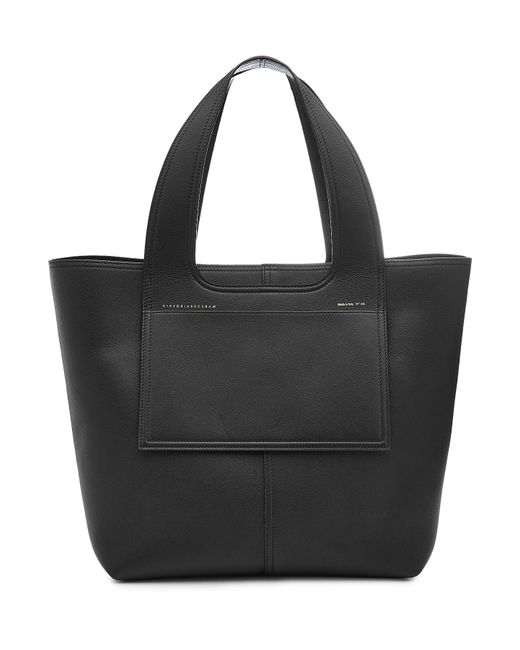 Victoria Beckham - Black Apron Leather Tote - Lyst