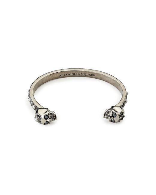 Alexander McQueen - Metallic Embellished Bangle - Lyst