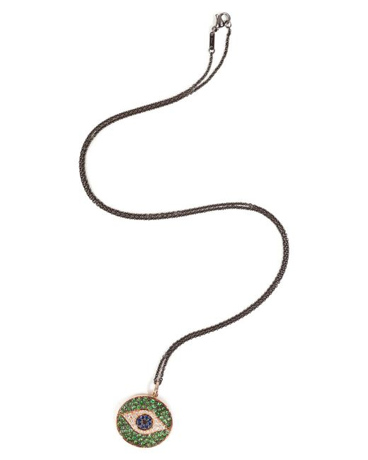 Ileana Makri - 18kt Pink Gold Dawn Pendant Necklace With Diamonds - Lyst