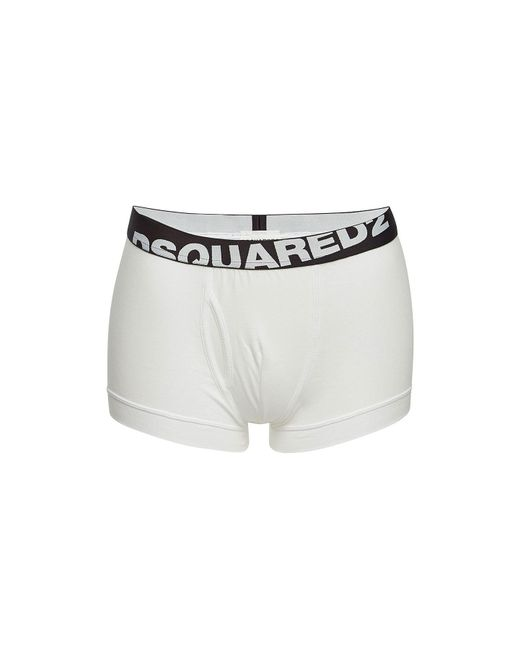 DSquared² - White Pack Of 2 Cotton Boxers for Men - Lyst