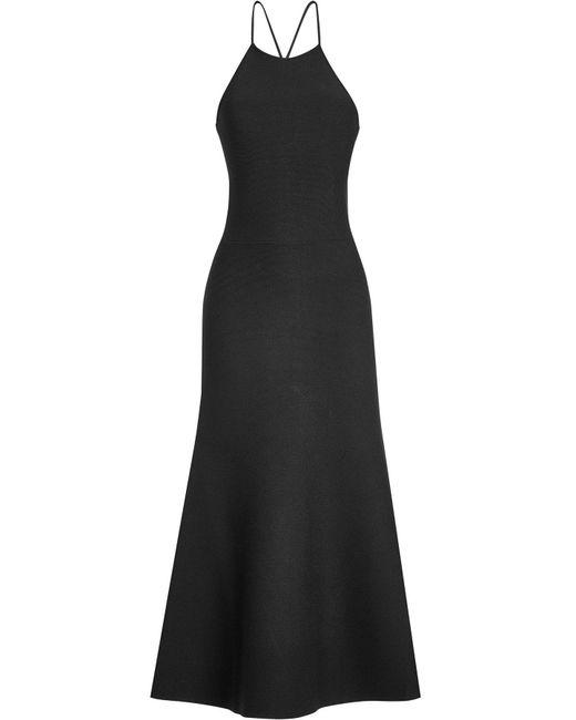 Alexander Wang   Black Midi Dress   Lyst
