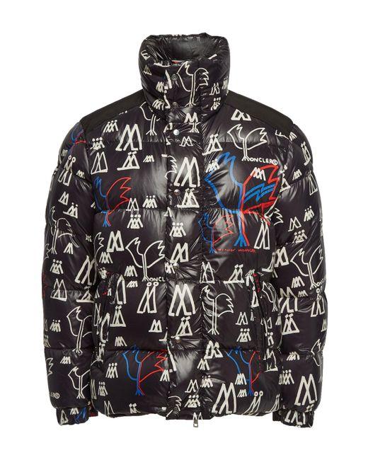 c49d0b199ff4 Lyst - Moncler Marennes Printed Down Jacket in Black for Men - Save 50%
