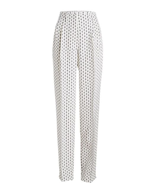 Etro - Multicolor Printed Silk Trousers - Lyst