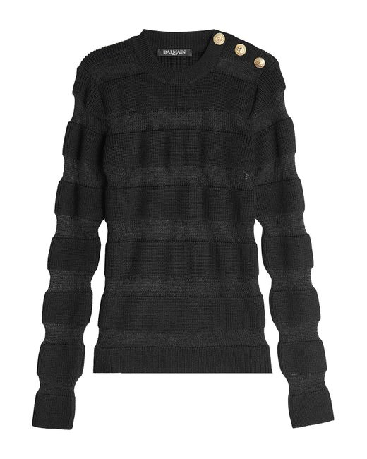 Balmain | Multicolor Merino Wool Pullover With Mohair | Lyst