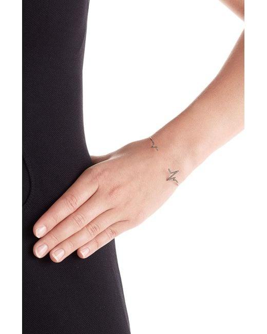 Diane Kordas | Metallic Heartbeat 18kt Rose Gold Bracelet With White Diamonds | Lyst