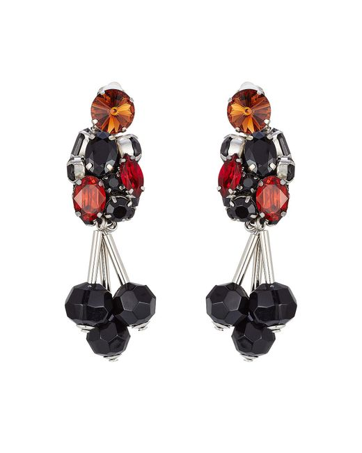 Marni - Red Embellished Earrings - Lyst