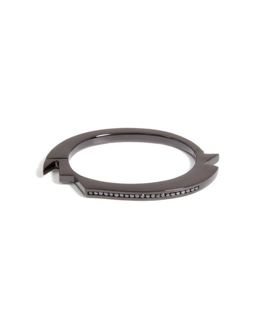 Lynn Ban | Black Rhodium Bracelet 2 With Black Diamonds | Lyst