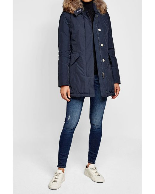 Woolrich | Blue Luxury Arctic Down Parka With Fur-trimmed Hood | Lyst