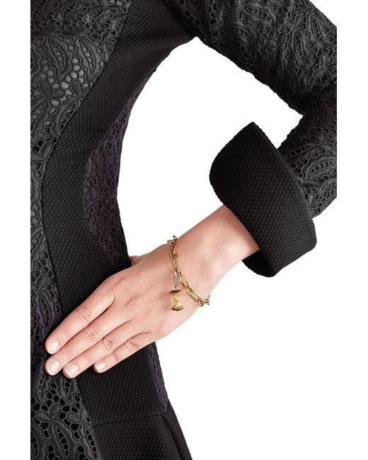 Aurelie Bidermann | Metallic 18kt Gold Big Apple Pendant With Rubies/diamonds | Lyst