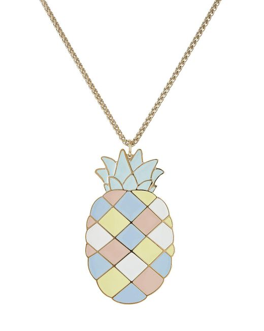 Paul & Joe - Blue Pineapple Pendant Necklace - Lyst