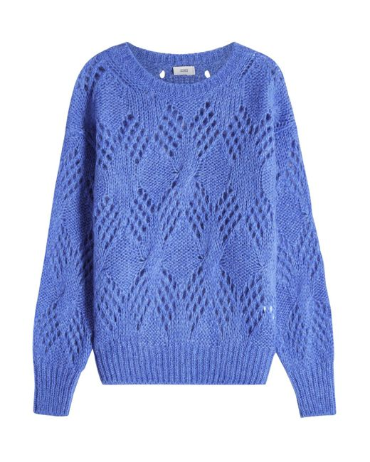 Closed - Blue Knit Pullover With Mohair And Alpaca - Lyst