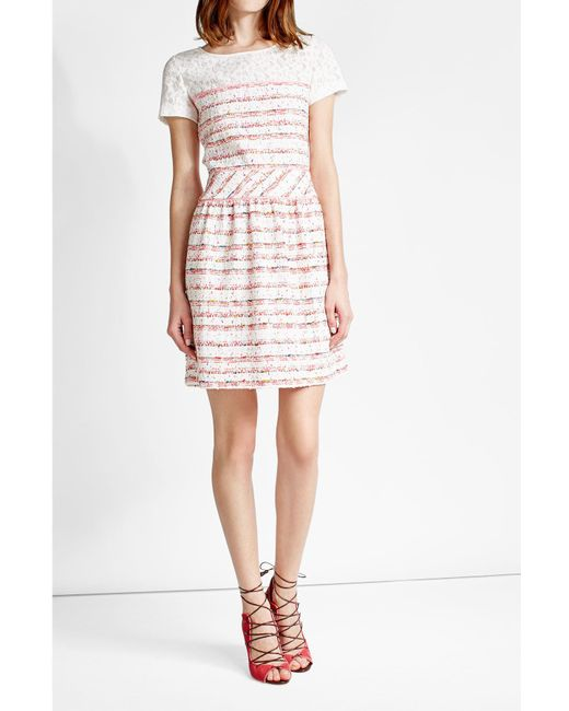 Boutique Moschino   Multicolor Dress With Bouclé Skirt   Lyst
