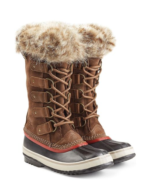 Sorel - Brown Joan Of Arctic Tall Boots With Faux Fur - Lyst