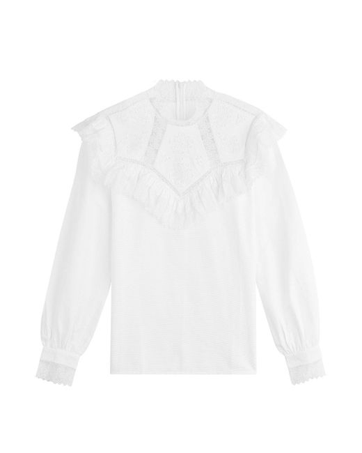 Vilshenko - Multicolor Cotton Blouse With Ruffles - Lyst