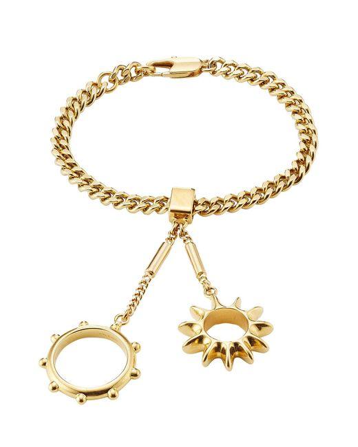Chloé - Metallic Bracelet With Rings Attached - Lyst
