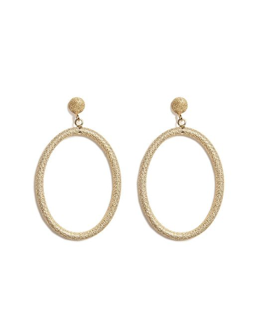 Carolina Bucci - Metallic 18k Gold Gitane Sparkly Oval Earrings - Lyst