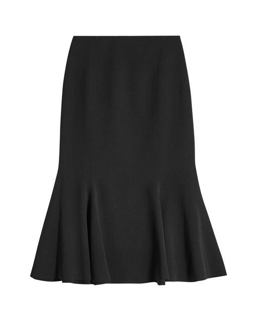 Proenza Schouler - Black Fluted Crepe Skirt - Lyst