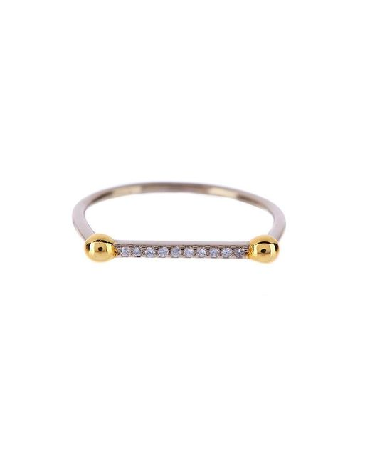 Luv Aj | Metallic Single Barbell Ring In Silver | Lyst