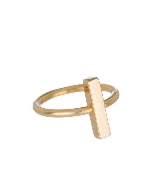 Adina Reyter | Metallic Bar Ring In Gold | Lyst