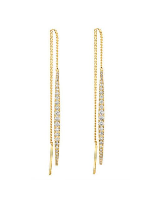 Melinda Maria - Metallic Kate Thread Earrings - Lyst