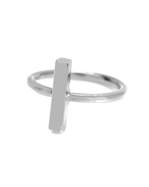 Adina Reyter - Metallic Bar Ring In Silver - Lyst