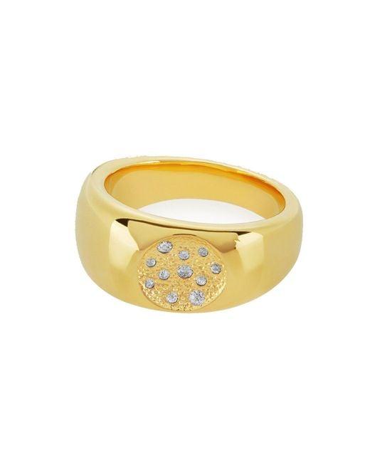Melinda Maria - Yellow Isabel Pave Ring - Lyst