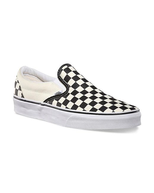 ... Vans - White Classic Slip On Canvas Checkerboard Trainers for Men - Lyst  ... d65232030