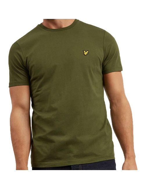 1d43a6c7a ... Lyle & Scott - Green Lyle And Scott Crew Neck T-shirt for Men ...