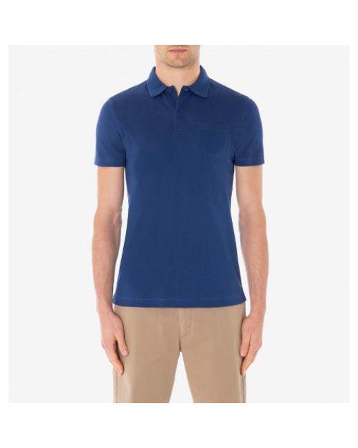 ec92ed00e ... Lyst Sunspel - Blue Men s Cotton Riviera Polo Shirt In Dark Indigo for  Men ...