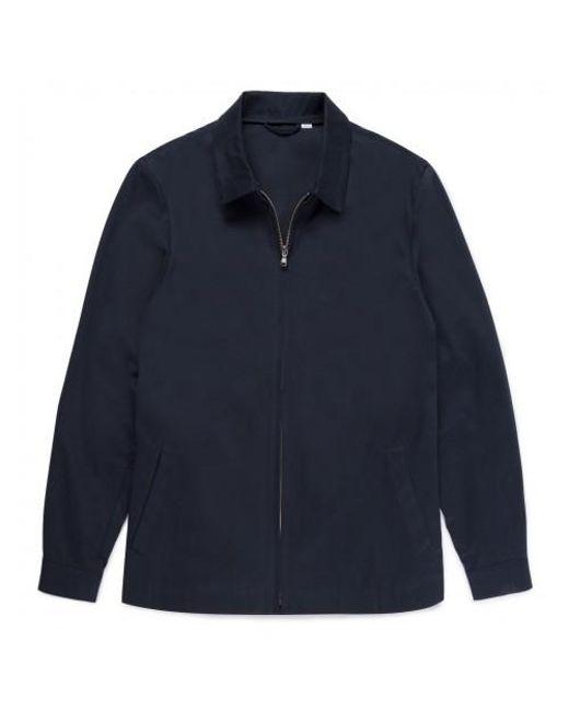 Sunspel - Blue Men's Cotton Drill Harrington Jacket In Navy for Men - Lyst
