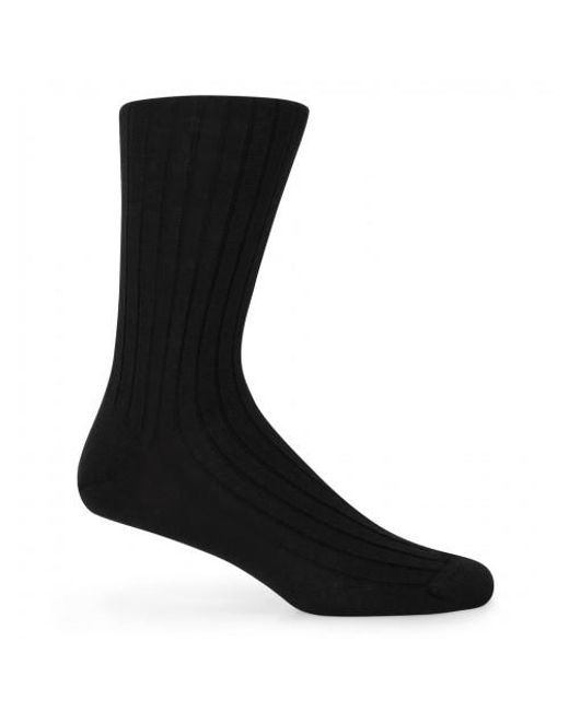 Sunspel - Men's Merino Cotton Socks In Black for Men - Lyst