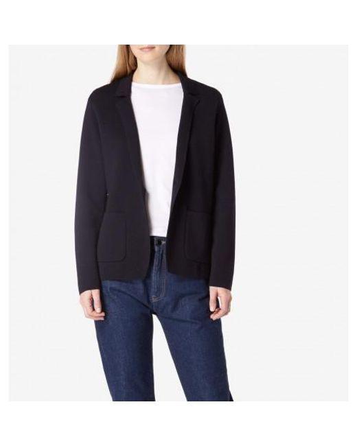 Sunspel - Blue Women's Merino Wool Knitted Milano Blazer In Navy - Lyst