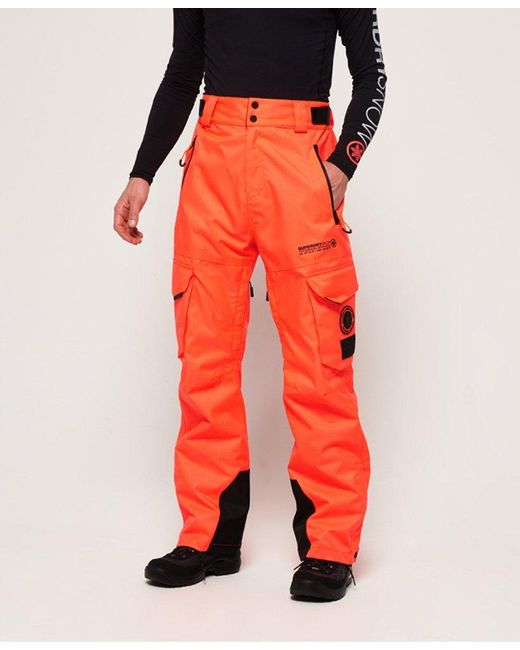 c2cb410f3a00 Superdry - Orange Snow Pants for Men - Lyst ...