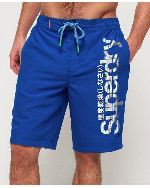 2c9af98465 Superdry - Blue Boardshorts for Men - Lyst ...