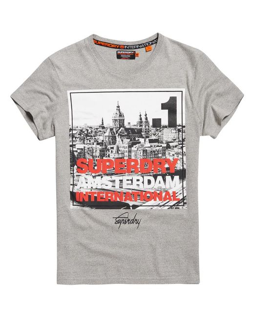 Superdry - Gray Box Photo City Amsterdam T-shirt for Men - Lyst