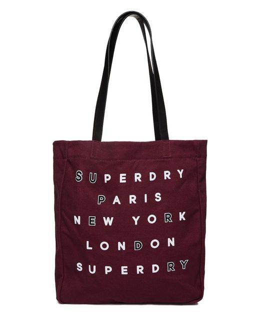 Superdry   Red Etoile Parisian Shopper Bag   Lyst