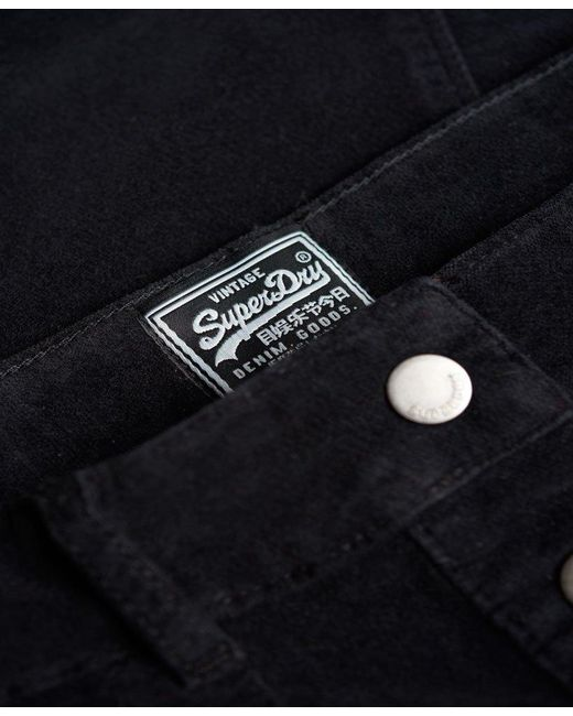 a53db11d00 ... Superdry - Black A-line Midi Cord Skirt - Lyst ...