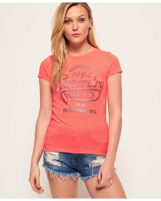 Superdry - Orange Tokyo Sports Foil T-shirt - Lyst