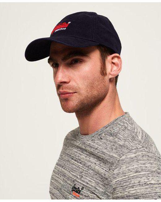 Superdry - Blue Orange Label Twill Cap for Men - Lyst