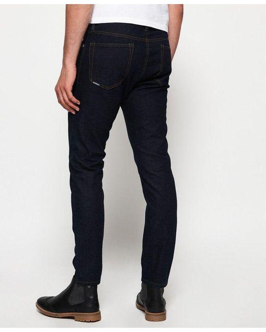 ba419ead ... Superdry - Blue Premium Slim Tyler Jeans for Men - Lyst ...