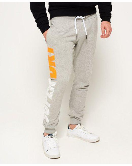 Superdry - Gray Japan City Breakers Joggers for Men - Lyst