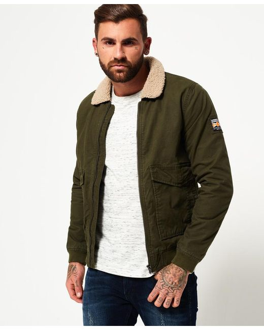 Superdry Rookie Winter Aviator Bomber Jacket In